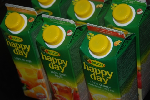 empty juice cartons