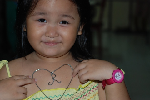 Extraordinary wire heart by me! Extraordinary child by God!