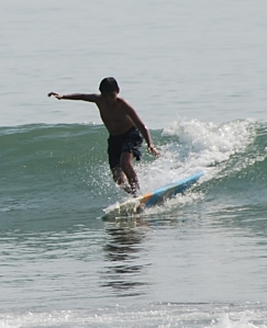 Benedict Surfing in Baler